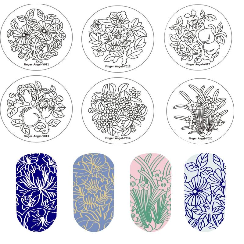 1Pc Floral Nail Art Stamping Image Plates/ fairy tale garden Stamping Image Plates Manicure Nail Designs DIY/ Stamping Templates недорого