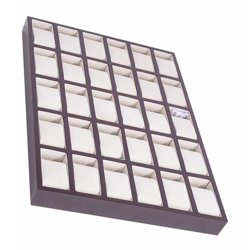 Deluxe madera 30 rejilla caja de reloj caja de regalo caja de joyería escaparate estuche de exposición titular