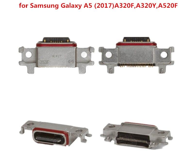 Conector de carga USB para Samsung Galaxy A5 (2017) A320F, A320Y, A520F reemplazo de enchufe de carga