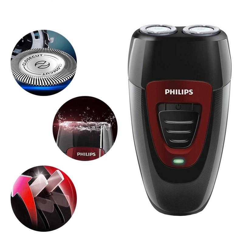 Philips-ماكينة حلاقة كهربائية أصلية 100% ، PQ182 ، قابلة لإعادة الشحن ، مع بطارية Ni-MH ، ماكينة حلاقة كهربائية بجهد 220 فولت ، للرجال