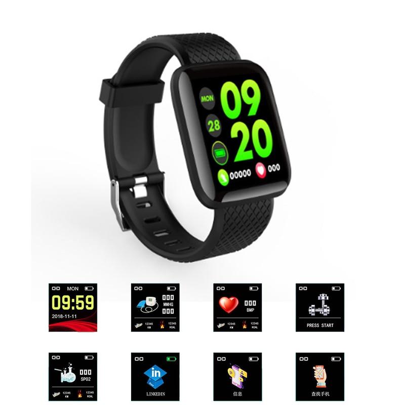 Reloj inteligente 116Plus, pulsera con contador de pasos, control del ritmo cardíaco y del sueño, pago fuera de línea, reloj inalámbrico de deporte