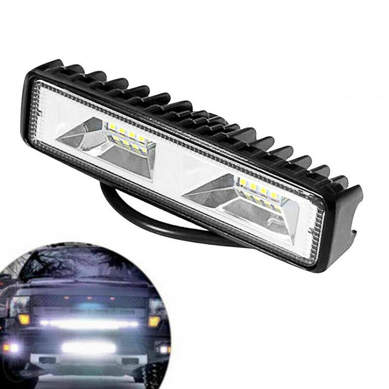 12v 18w 6500k conduziu a barra de luz trabalho luzes do ponto inundação condução da lâmpada fora da estrada caminhão do carro atv suv acessórios exteriores universais ip67