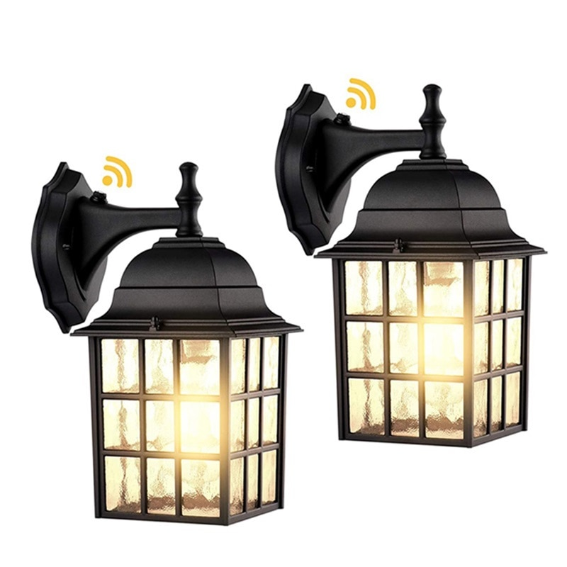AOSONG Outdoor Wall Sconces Light Classical LED Build-in Sensor Lamp Waterproof IP65 Home Decorative For Porch enlarge