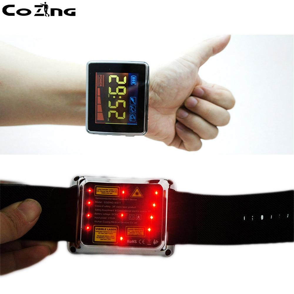 Dispositif de thérapie physique de montre de traitement de Laser de semi-conducteur pour le diabète de douleur de jambe de dos dacouphène de rhinite