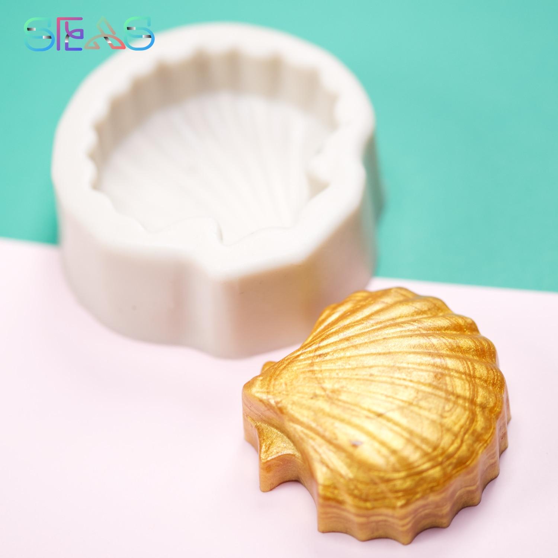 Силиконовая 3D форма в виде ракушки, формы для выпечки тортов, печенье, кондитерские инструменты, аксессуары, «сделай сам», формы для шоколад...