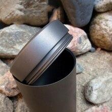 Boîte de rangement EDC en plein air en alliage de titane cylindre café thé boîtes outils multifonctions ultra-léger portable EDC conteneur