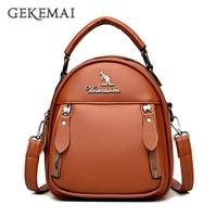 new multi functionwomens backpack high quality leathe womens shoulder bag mini ladies crossbody leisure fashion small backpack