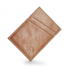Großhandel 100% Echt Leder Karte Halter Brieftasche Dünne Bequem ID Tasche Kreditkarte Halter Schlank Reise Männer Bargeld Karten Pack NEUE