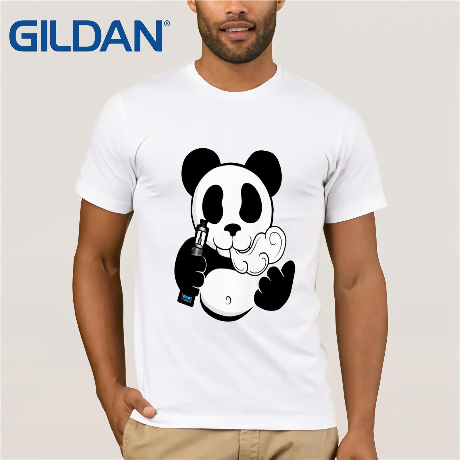Vaper panda i vape 420 fumar apenas gotejamento bobina hipster camiseta tshirt o pescoço verão personalidade moda masculina t-shirts