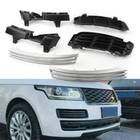 6pcsset car silver front bumper grille grill insert lr046709 for land rover range rover 2013 2014 2015 2016 2017 abs plastic