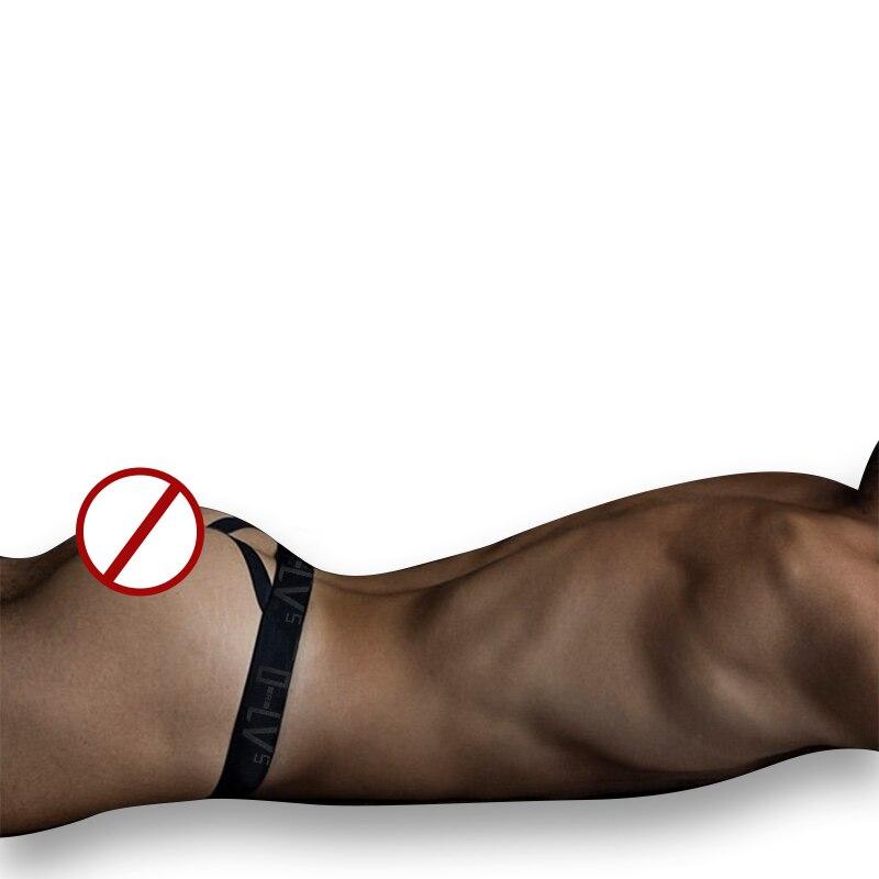 Мужские хлопковые трусы бикини с логотипом, синие трусы танга, сексуальные трусы для геев, сексуальное нижнее белье для мужчин,