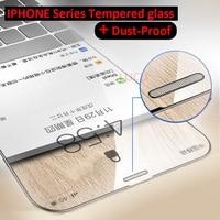Защитное стекло, закаленное стекло 9H для iphone X/XS MAX/XR/6/6S/7/8 Plus