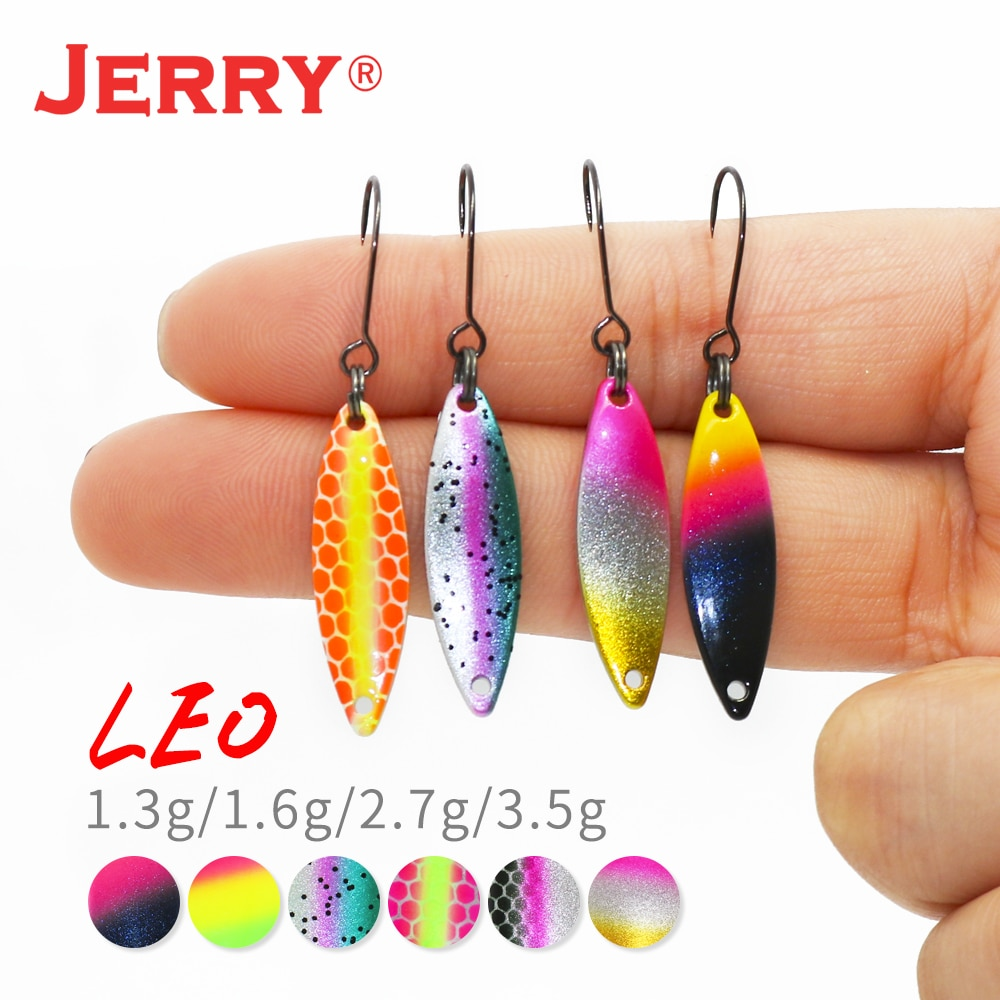 Jerry Leo Ultralight Metal Trout Fishing Spoons Micro Fluttering Brass  Lures 1.6- 3.5g Glittering UV Color Spinner Bait Pesca