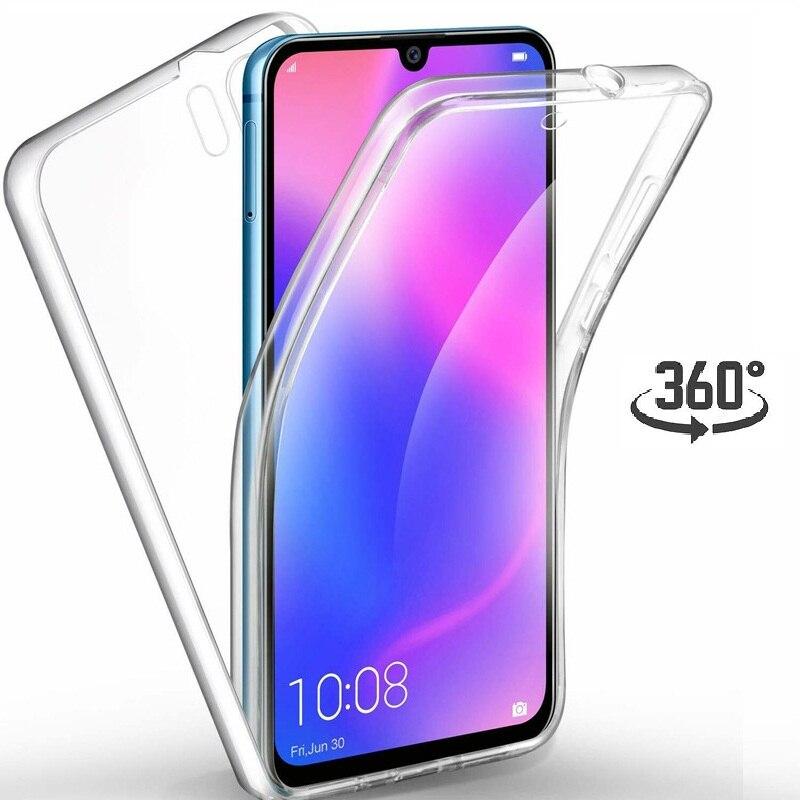 Чехол на 360 градусов для Huawei P30 Pro P20 Mate 20 Lite P Smart 2019 Honor 10 Lite 8X Nova 3 3i прозрачный чехол на весь корпус с сенсорным экраном