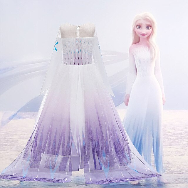 disney elsa prenses elbise yeni cocuk giyim dondurulmus 2 aisha kostum kiz orgu