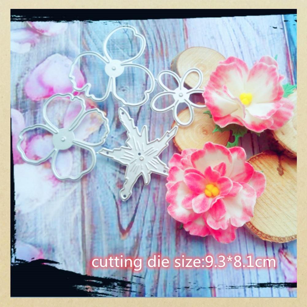 Blühende Blume Metall Stirbt Scrapbooking Schablone Template für Präge DIY Scrapbooking Papier Album Geschenk Karten, Der Stirbt Cut