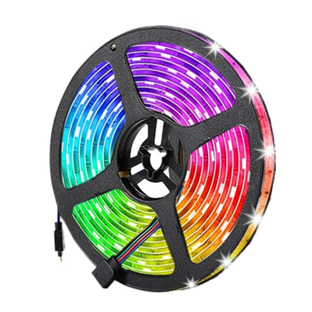 Tira de luces LED RGB 5050 resistente al agua, cinta de neón...