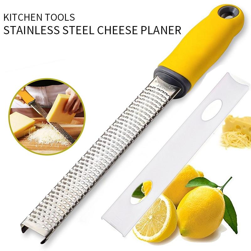 Citrus Lemon Zester Cheese Grater Stainless Steel Mill Cheese Grater Tools Chocolate Lemon Zester Fruit Peeler Kitchen Gadgets