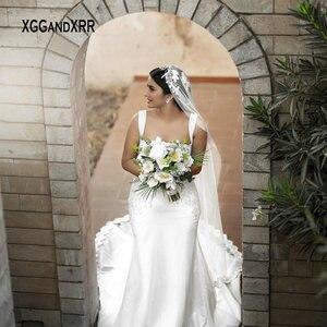 Romantic Mermaid Wedding Dress 2021 Bridal Gown Sweetheart Spaghetti Chapel Train Saudi Arabia Bride Dress Custom Made Pageant