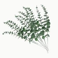10 piece simulation green plants eucalyptus leaf branch artificial fake flower wedding shooting prop home decoration garland