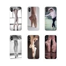 Ballet Pointe Shoes Ballerina For Samsung A10 A30 A40 A50 A60 A70 Galaxy S2 Note 2 3 Grand Core Prime Transparent Soft Cover Bag