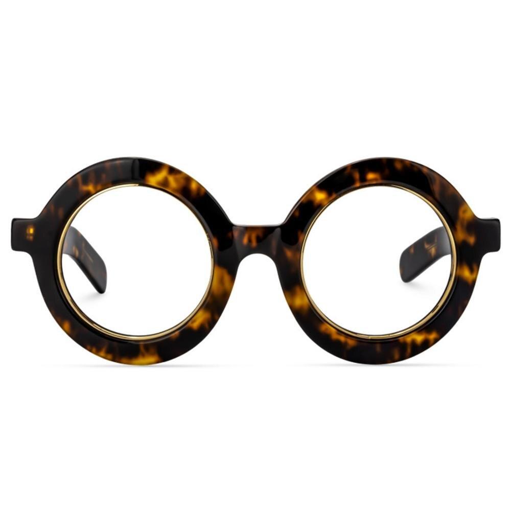 Zeelool-إطار نظارة دائري سميك ريترو للنساء والرجال ، عدسات شفافة بدون وصفة طبية ، Calhoun ZOA01776