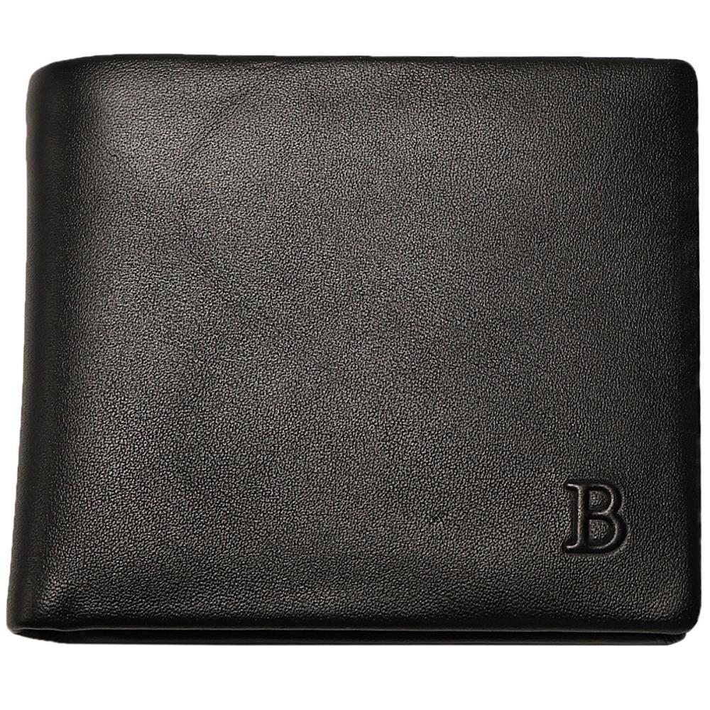 Baborry100% Genuine Leather Wallet Men New Brand Purses for men Black Bifold Wallet кошелек obey drexel bifold wallet black