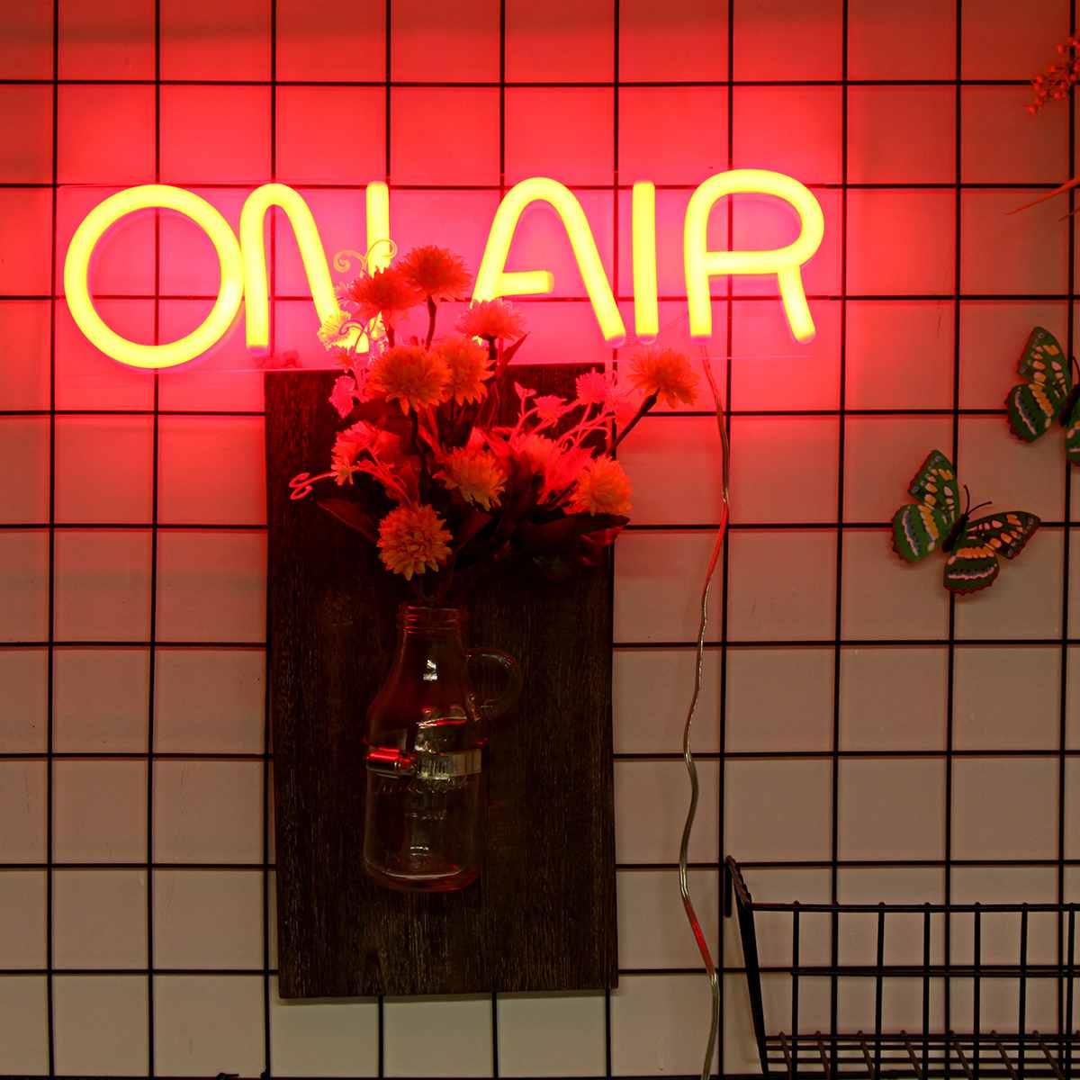 مصباح نيون LED على الهواء ، ديكور حائط ، بار ، حانة ، نادي ، أنبوب مرئي ، ديكور حفلات ، مصباح ديكور منزلي