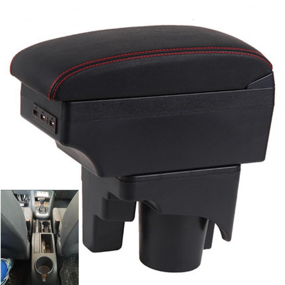 Para VW Golf 6 golf 5 Mk6 MK5 jetta 5 caja de reposabrazos, caja de almacenamiento de contenido de tienda central, caja de reposabrazos con soporte de Copa con interfaz USB