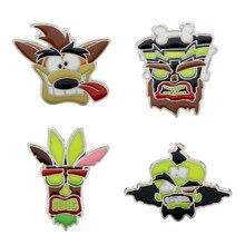 Crash Bandicoot broszka kreatywna biżuteria Cartoon rysunek odznaki broszki szpilki ozdoba prezent