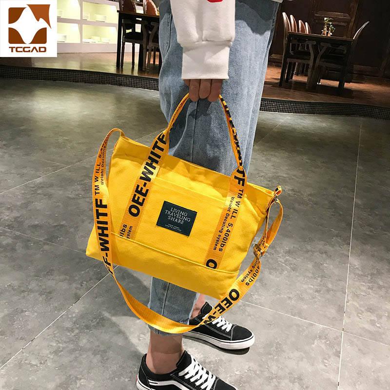 Bolso de mano amarillo de gran capacidad para mujer, bolsa de compras...