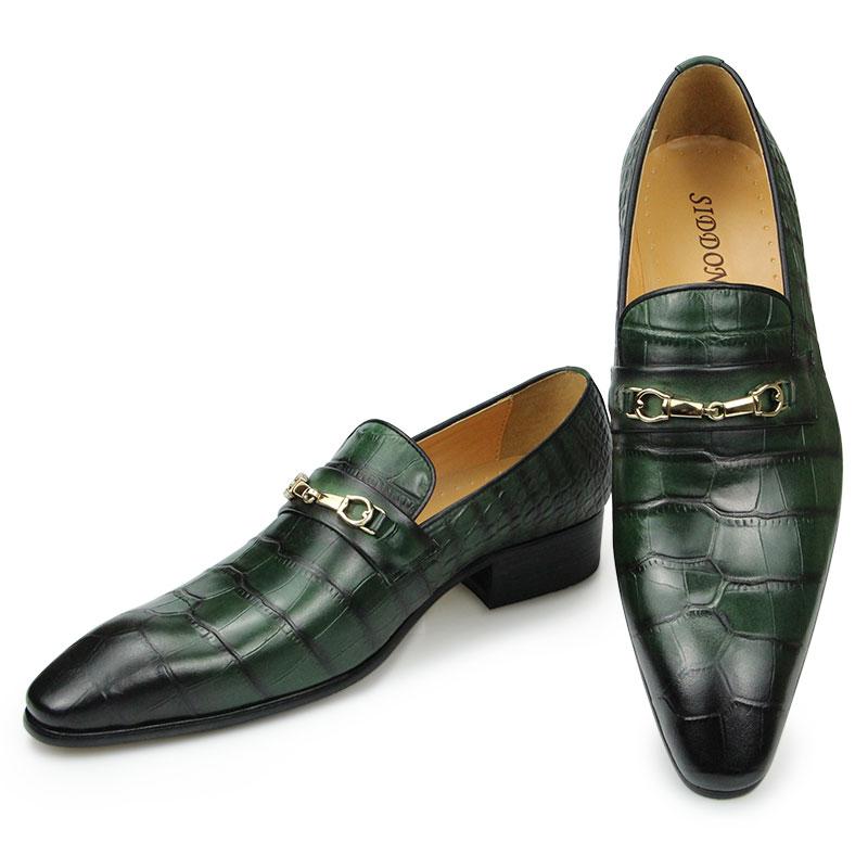 الربيع والخريف الرجال المتسكعون الأعمال فستان الزفاف مأدبة دعوى أحذية مصممين Zapatos دي Hombre جلد طبيعي أشار تو