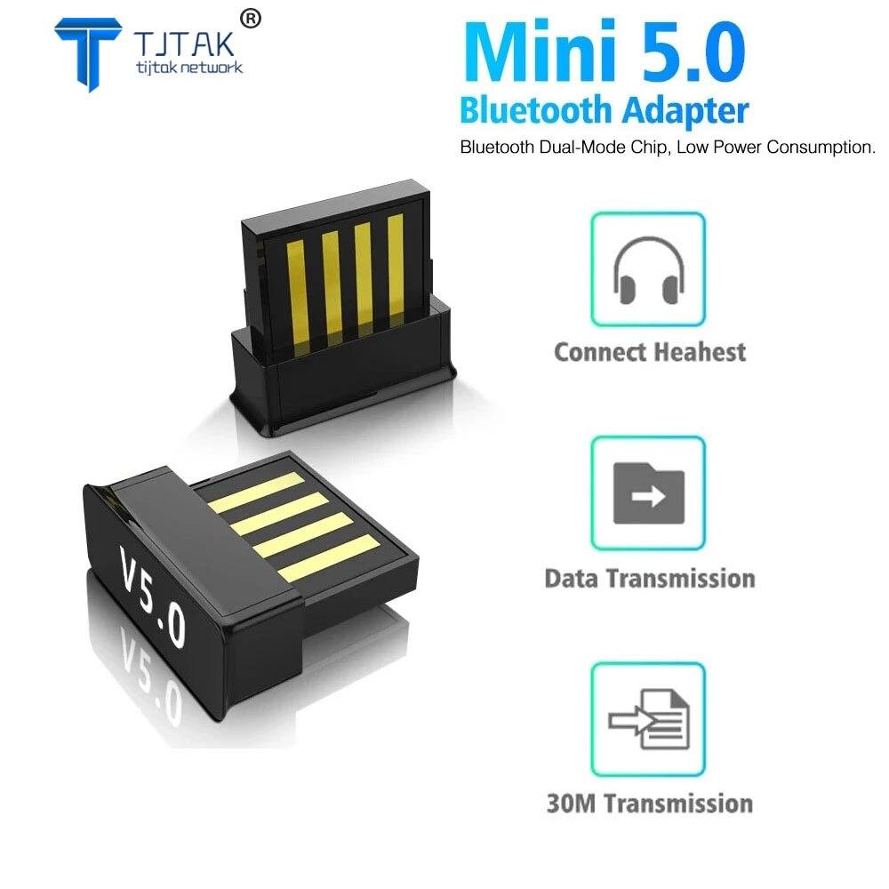 Adaptador USB Bluetooth 5,0, dispositivo de Audio para Receptor de ordenador, transmisor...