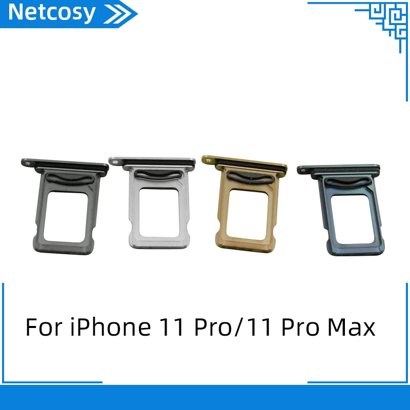 Para iPhone 11/11 pro/11 pro max, soporte de tarjeta SIM, bandeja de ranura, contenedor, adaptador de repuesto para iPhone 11/11 pro/11 pro max reemplazo