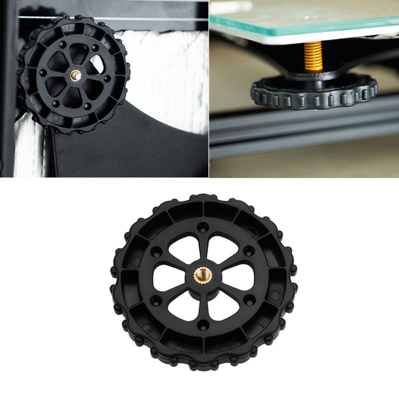 ¡Oferta! Tuerca de nivelación de giro manual grande mejorada para CR-10 de crealidad caliente/10S Mini/Ender-3 Creality 3D accesorios de impresora de plástico caliente