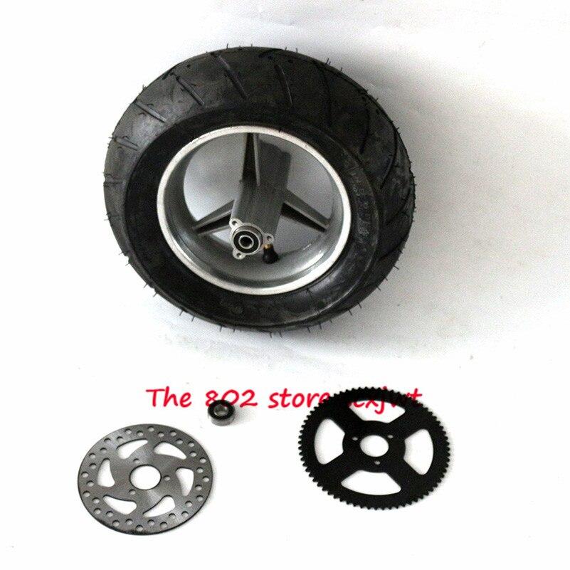 110/50-6,5 бескамерные шины задние колеса с Тормозным Диском задние звездочки для 47cc/49cc 2 Сток мини карманный велосипед колеса & Dis