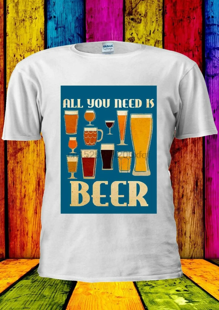 All I Need Is Beer Funny Tumblr T-shirt Vest Tank Top Men Women Unisex 1099