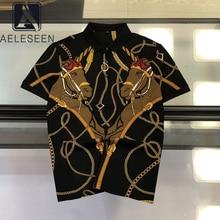 Aeleseen camiseta feminina impressão preta camisetas 2020 verão cavalo corrente gótico solto punk streetwear roupas femininas camiseta vintage