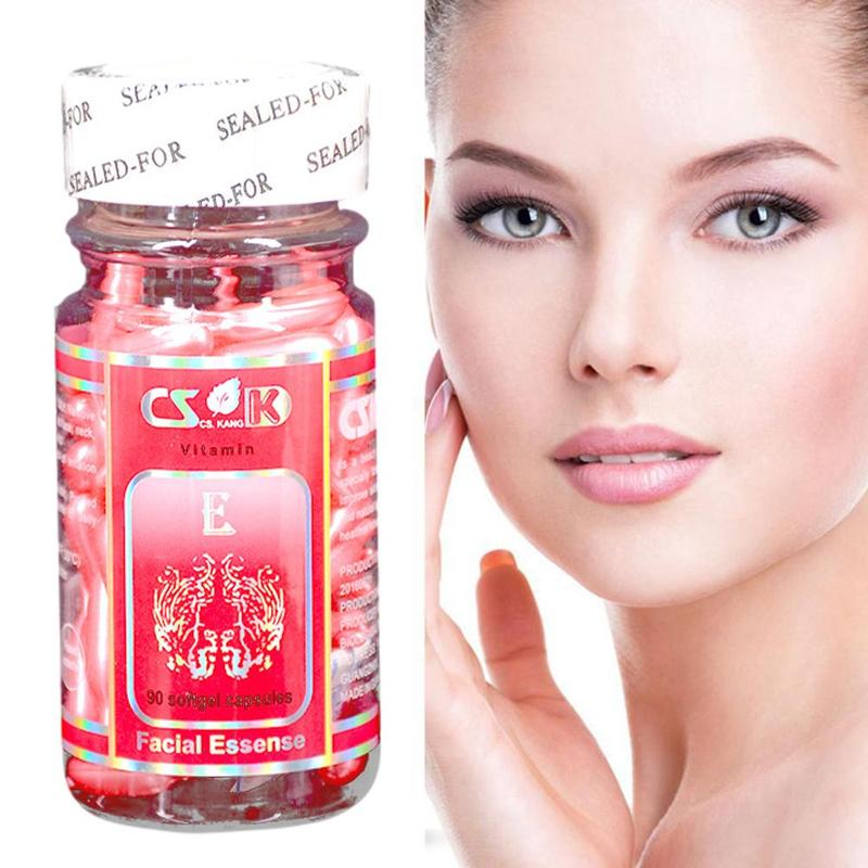 Vitamin E Aloe Fruit Acid Capsules Face Serum Spot Acne Removing Moisturizing Nutrition Whitening Freckle Capsule 90 Pcs/Box