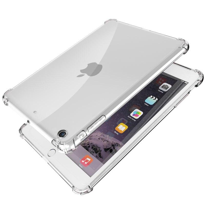 Anti-fall Clear Case For iPad Air 2019 3 2 9.7 2018 2017 Mini 4 2 3 5 Soft TPU Silicon Cover for iPad Air Pro 10.5 11 12.9 Case