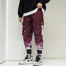 Men Jogger Pants Casual Fit Men Streetwear Jogger Pants 2020 Elastic Waist Men Fashion Printed Tactical Cargo Pant Men Trousers