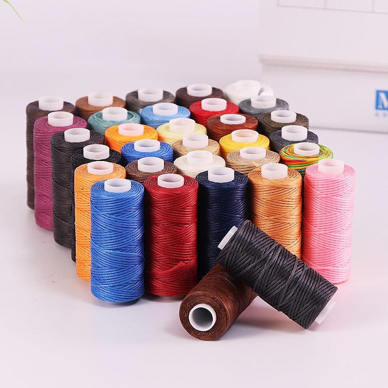 50 м 0,8 мм Толщина вощеная нить для кожи вощеный шнур для Diy инструмент для рукоделия ручной швейные нитки Телевизор с воском строчка