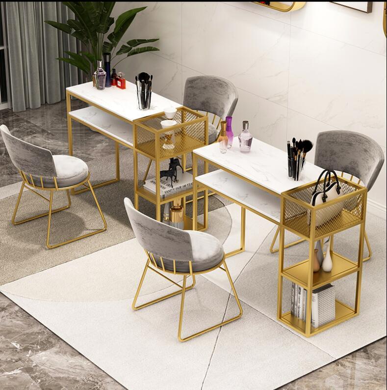 Салонного маникюра стол чистый красный маникюр настольная конвекционная печь мраморный маникюр магазин стул для маникюра Комплект полок
