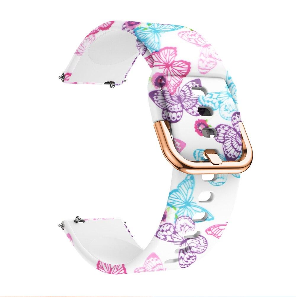 Kw19 pulseira relógio de pulso pulseira pulseira pulseira de silicone pulseira feminina flor pulseira de borracha macia laço de pulso meninas