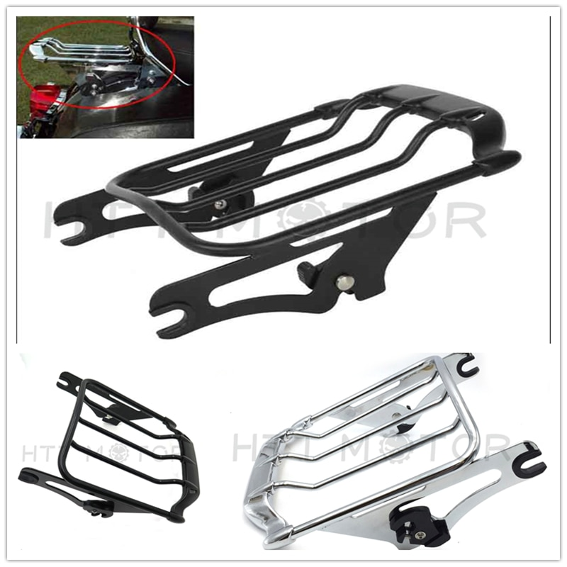 Aftermarket motorcycle parts Detachable matte Black Air Wing Two Up Luggage Rack For Harley davidson Touring Models 2009-Up