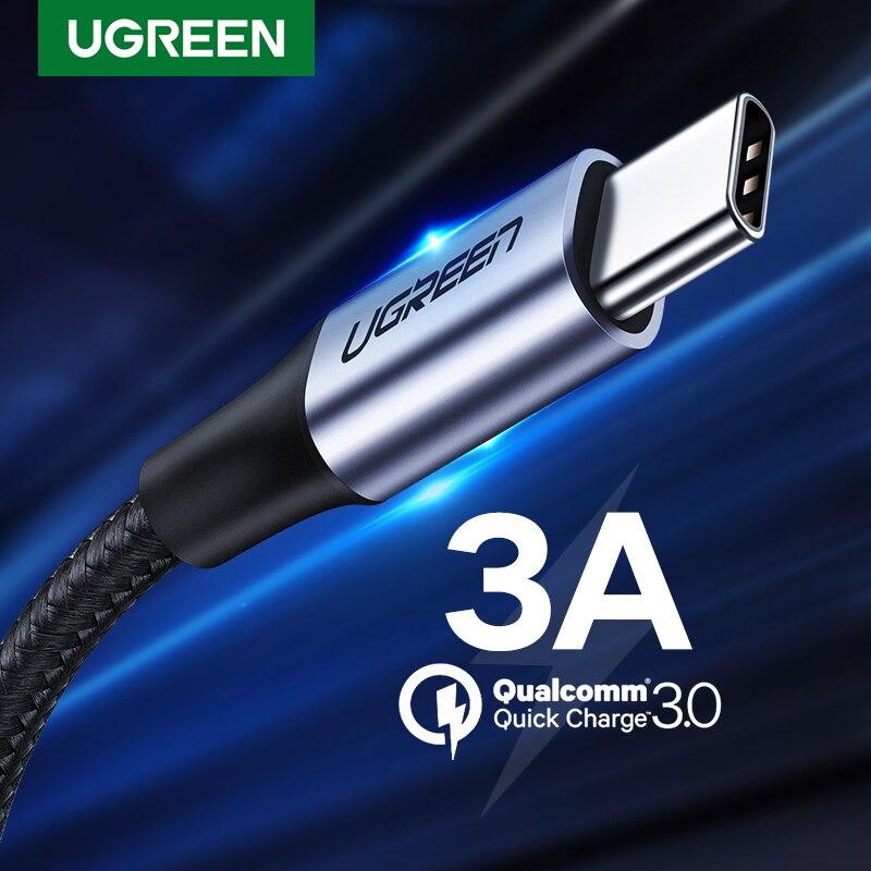 UGREEN-Cable de datos de carga rápida para telefónos móviles, cargador USB tipo...