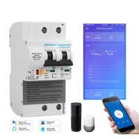 EWelink     compteur de consommation denergie intelligent  monophase  wi-fi  kWh  watt  avec Alexa google pour maison intelligente  2P