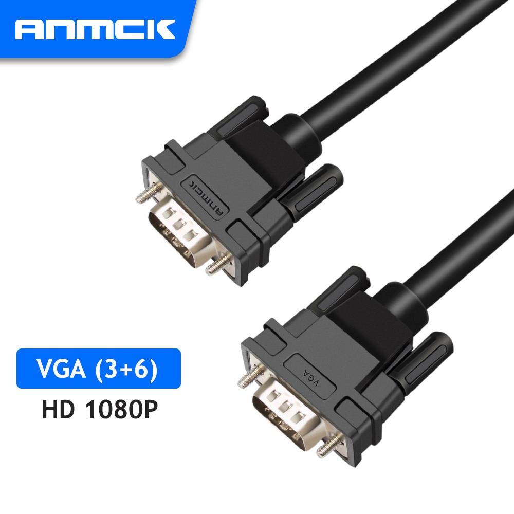 Anmck-Cables VGA 1080P macho a macho, Cable de cobre puro VGA3 +...