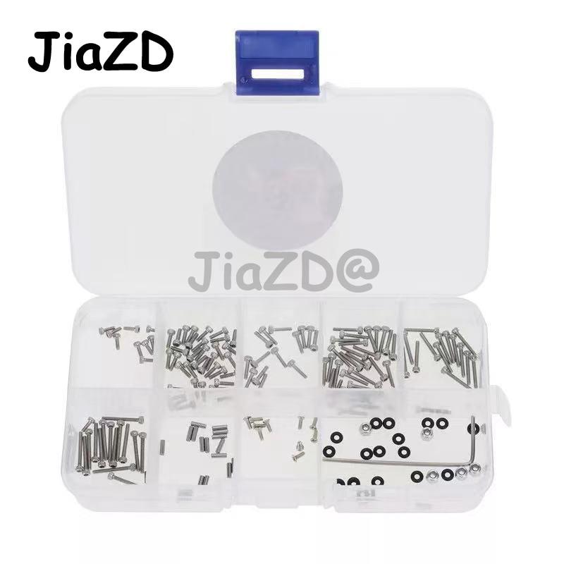 176Pcs M1.4 Metal Screws M2 Nut Box Set for Axial SCX24 90081 1/24 RC Crawler Car Upgrade Parts Accessories W009 enlarge