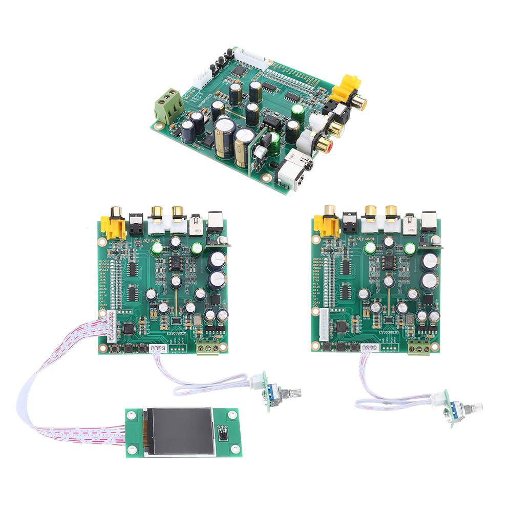 1 Uds DAC de Audio DSD decodificador placa 3,5mm apoyo IIS DSD de fibra Coaxial de entrada de 384KHz DOP con pantalla OLED D5-001